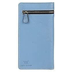 Aditi Wasan Genuine Leather Blue Ladies Wallet