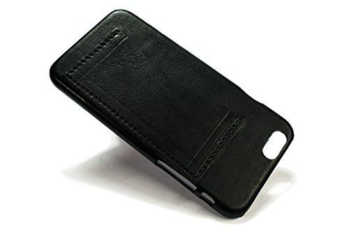 Nicola Meyer–iPhone 6S E 611,9cm Étui en cuir avec fente pour carte de crédit 1horizontale noir