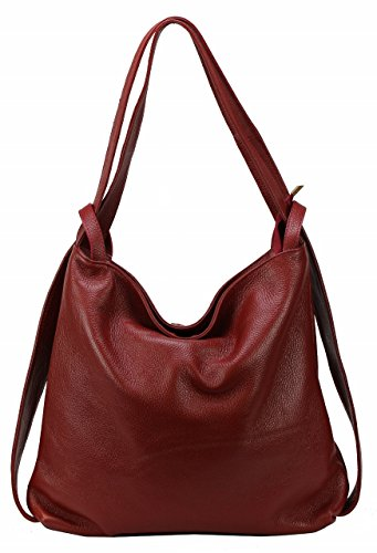 BZNA Bag Mia Rot red Backpacker Designer Rucksack Ledertasche Damenhandtasche Schultertasche Leder Italy Neu - Prada Red Bag