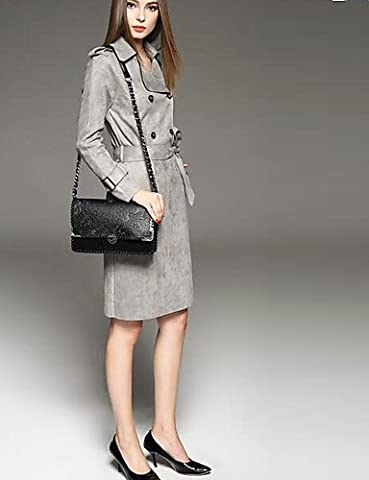 CH&TOU Gaine Robe Femme Soirée Vintage,Couleur Pleine Asymétrique Mi-long Manches Longues Modal Eté Taille Normale Non Elastique Moyen , camel , l
