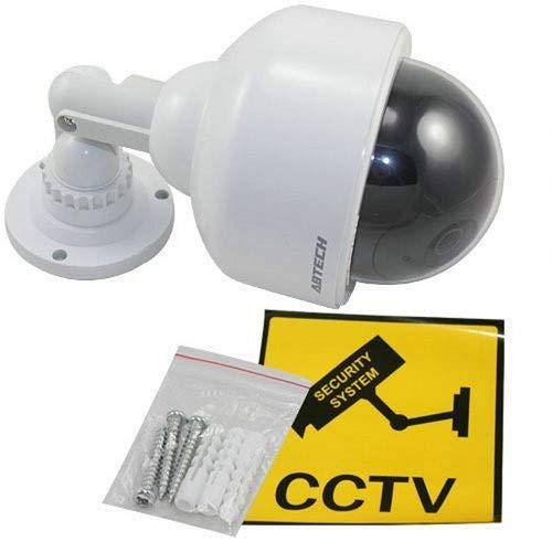 4X Professionelle Speed Dome Überwachungskameras Dummy Outdoor Kameras Dummy Kamera Attrappe mit Objektiv, Kabel und blinkled Videoüberwachung Warensicherung