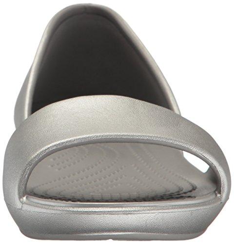 Crocs Crocs Lina Dorsay Flat Sil/sil, Ballerines femme Argent (Silver/Silver)