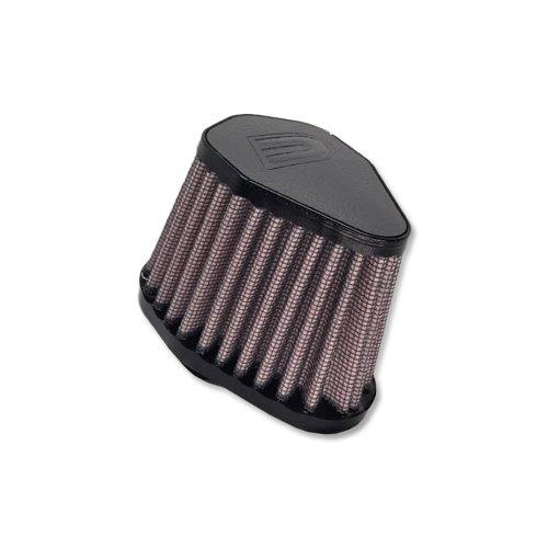 Preisvergleich Produktbild DNA Hexagonal Grey Leather Top Air Filter,  Inl: 51mm,  Len: 86mm,  PN: V-5100-L-G