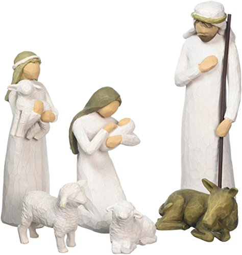 Willow Tree 26005 Weihnachtsartikel Heilige Familie, 5,1 x 7,6 x 24,1 cm, Natur, Holz