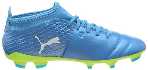Puma One 17.2 FG, Chaussures de Football Homme Bleu (Atomic Blue- White-safety Yellow)