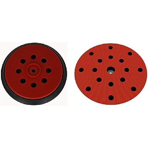 Plato lijador medio para Hilti WFE 150E disco de lijado de VELCRO Ø 150mm - con 17-agujeros para la extracción de polvo - suave medio o duro - a su elección -