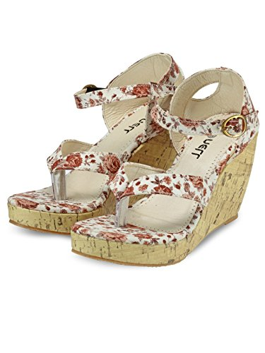 Nell Women Brown Solid Wedges ( Size-39)  available at amazon for Rs.399