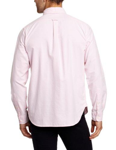 Dockers - Camicia regular fit, manica lunga, uomo Rosso (Pink (Wyeth - Sumac Pink 0009))