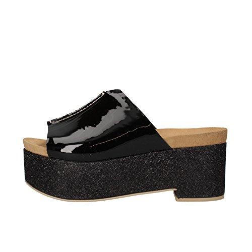 SERGIO CIMADAMORE sandali donna 35 EU nero vernice glitter AF494