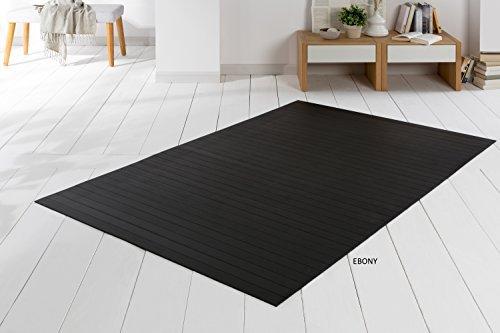 Bambusteppich SOLID ebony 60x120 cm extra breite 50mm StegeI die neue Generation BambusteppichI kein Bordürenteppich I Teppich I Wohnzimmer I Küche I Markenprodukt von DE-COmmerce I MADE IN GERMANY