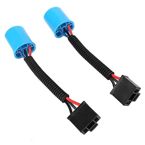 Scheinwerfer Kabelkonvertierung, 2 Stück 9007 Stecker auf H4 Adapter Buchse Scheinwerfer Kabelkonvertierung Kabelbaum Fit für H2