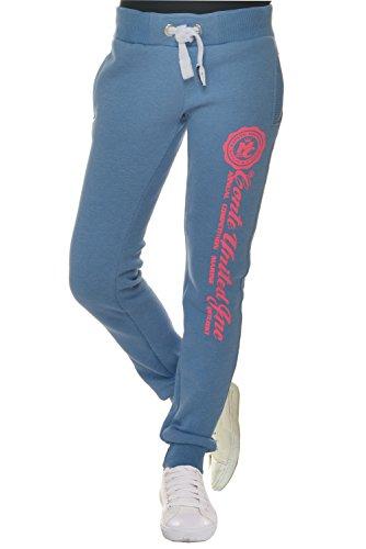 M.Conte Sweat-Pants Modello Ramona Pantaloni in Felpa sportivi da Jogging tuta felpa per donna Azzuro Taglia L