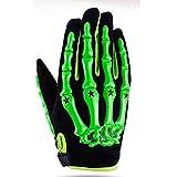 Qianliuk Offroad Männer Frauen Bike Motorrad Handschuhe, Powersports Anti-Slip Schädel Vollfinger Motorrad Motocross Handschuh XL