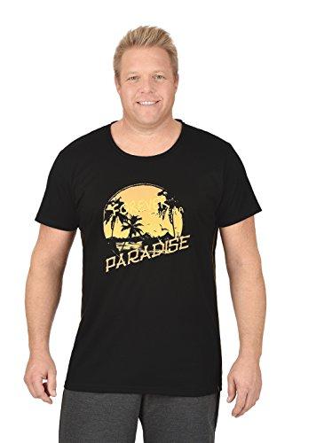 Trigema Herren T-Shirt Paradise Schwarz (Schwarz 008)