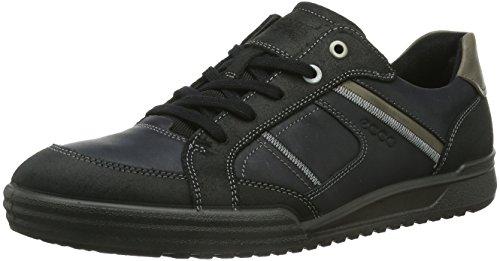 ECCO Fraser Sneaker a Collo Basso, Uomo, Nero(Black/Black/Warm Grey 54997), 40 (7 UK)