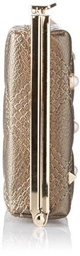 Gaudì Clutch Linea Aurora, Borsa a Mano Donna, 20.5 x 13 x 4 cm (W x H x L) Oro (Bronze)