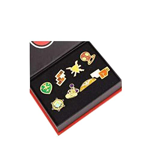Version V3 Pokemon Ash Gym Badge Gen 1-6 Badge Collection Box Set von 8 Stück 2017 (Set Box Halloween 1-8)