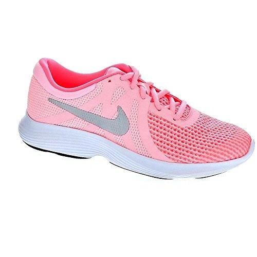 Nike Revolution 4 (GS), Zapatillas de Trail Running para Mujer, Rosa (Arctic Punch/Metallic Silver 600), 36.5 EU