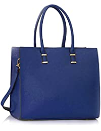 LeahWard Faux Leather Large Size Women s Tote Bags College A4 Folder Handbag  Sale Clearance 319 78f5158033d07