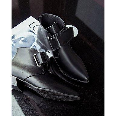 Rtry Femmes Chaussures Pu Chute La Mode Bottes Bottes Chunky Talon Bout Rond Magique Bande Pour Casual Noir Vert Us7.5 / Eu38 / Uk5.5 / Cn38
