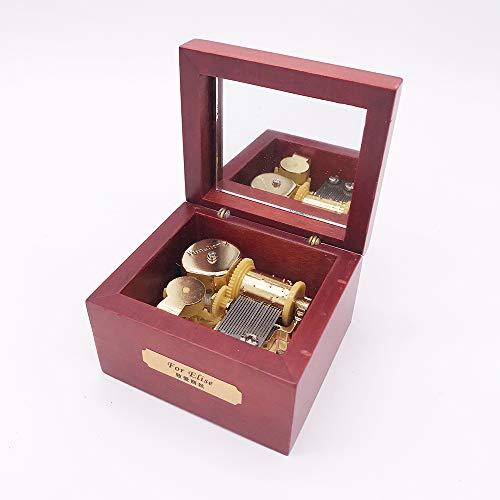 YouTang Holz Musik Box, Mini Musik Box mit 'YUNSHENG Bewegung, Play Moon River Rose Wood