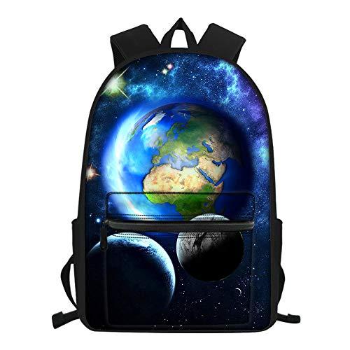 Nopersonality Rucksack für Schule mit Balldesign, Büchertaschen, Studenten, Teenager, Jungen, klein, Planet 1 (Blau) - Nopersonality