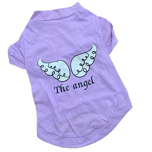 Haustier Kleidung erthome Hund Frühling Sommer Die Engel Weste Sleeveless T-Shirts (XS, Lila) (Lila Santa Kostüm)