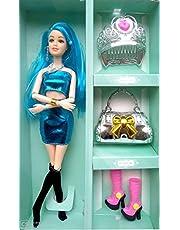 Shopme store Fashion Doll Beauty Charm Handbag Shoes Clothes & Ornaments Premium Quality (Color Maybe Very)