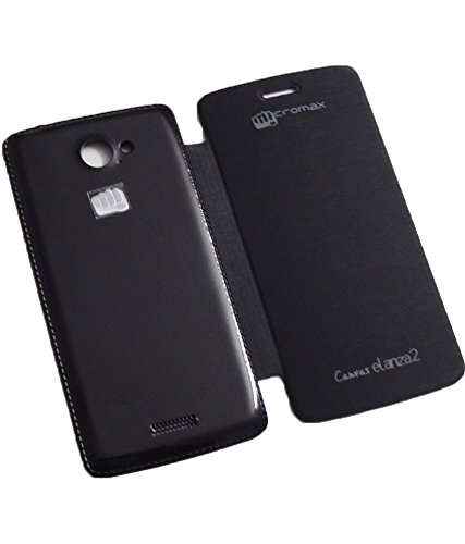 Evoque Flip Cover For Micromax Canvas Elenza 2 A121 Black  available at amazon for Rs.149