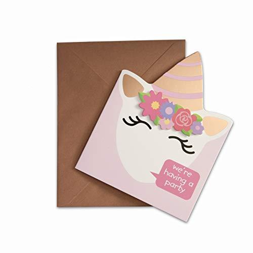 Hatton Gate Unicorn Einladungen 8 Karten mit Umschlägen pro Packung