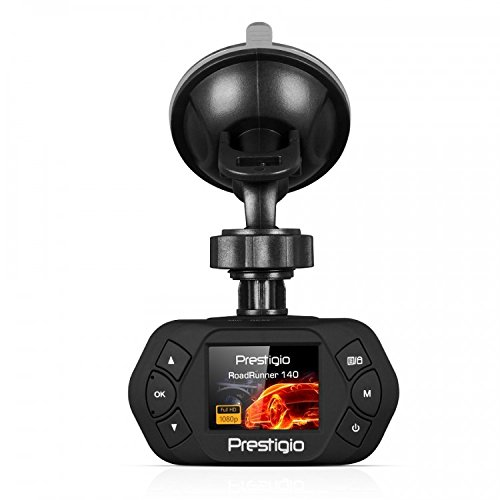 Prestigio Roadrunner RR140 Full HD Armaturenbrett-Kamera mit G-Sensor, 3,8 cm (1,5 Zoll) LCD-Bildschirm Roadrunner Audio