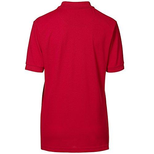 ID Femme Pique Polo Manches courtes homme Rouge