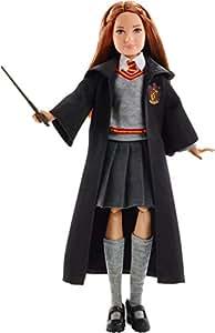Harry Potter Poupée articulée Ginny Weasley de 24 cm en uniforme Gryffondor en tissu avec baguette magique, à collectionner, jouet enfant, FYM53