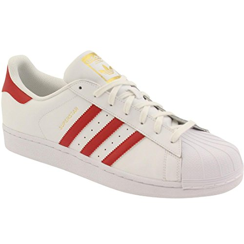 Adidas Superstar Foundation Herren B27139 White/scarlet