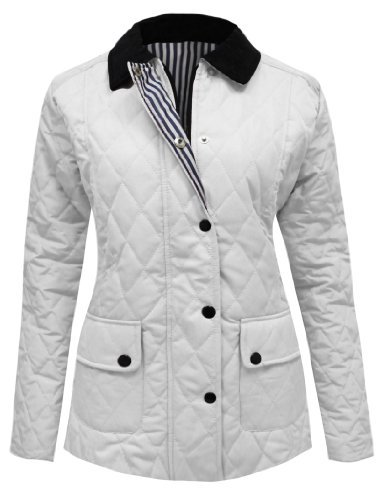 Candy floss, giaccone da donna trapuntato, imbottito, con bottoni e zip, taglie forti, dalla 36 alla 48 snow white 38