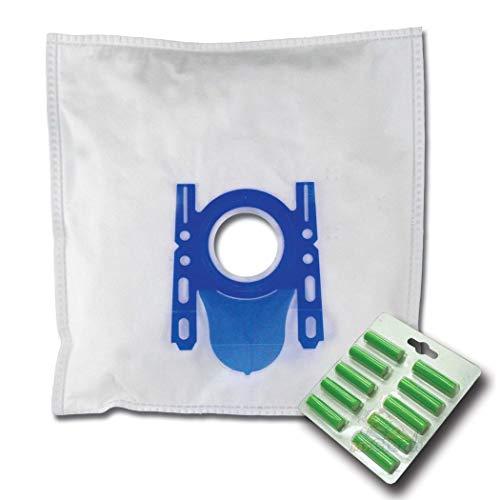 10 x Mr.Clean Staubsaugerbeutel + 10 Duftstäbe geeignet für Siemens VSQ4GP1264 schwarz VSZ4G331 desert sun VSZ4GMJUBI schwarz
