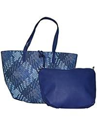 Senora Handbag For Women (Colour-Blue)