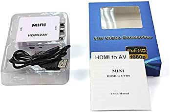Generic New Hdmi2Av Standard Hdmi Interface Mini Hd Video Hdmi To Av/Cvsb Video Hdmi To Av Adapter 1080P