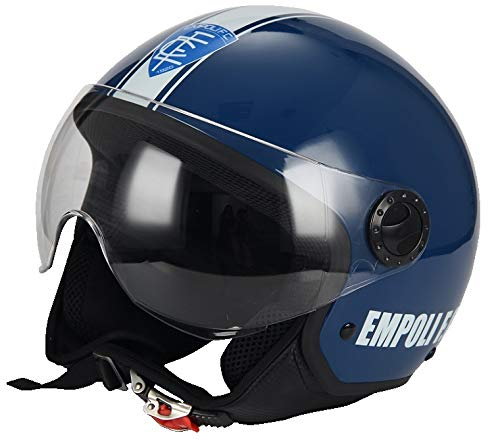 BHR 56156 Casco Demi-Jet Linea One Modello Calcio, Empoli Calcio  801, L