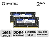 Timetec Hynix IC 16GB Kit (2x8GB) DDR4 2133MHz PC4-17000 Unbuffered Non-ECC 1.2V CL15 2Rx8 Dual Rank 260 Pin SODIMM Laptop / Notizbuch Arbeitsspeicher Module Upgrade (16GB Kit (2x8GB))