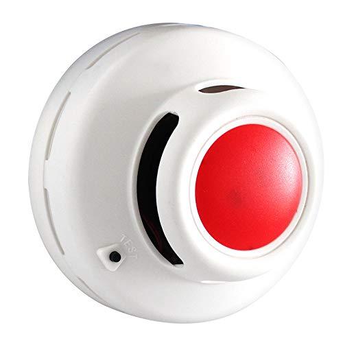 Danmei Rauchmelder, Rauchmelder, Feuermelder, mit Infrarot-Foto-Sensor, 85 dB, rote LED blinkt
