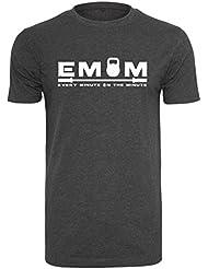 EMOM Fitness Every Minute gut sitzendes Sport T-Shirt für Herren (Schwarz, Dunkelgrau oder Hellgrau in Größe S,M,L,XL oder XXL)