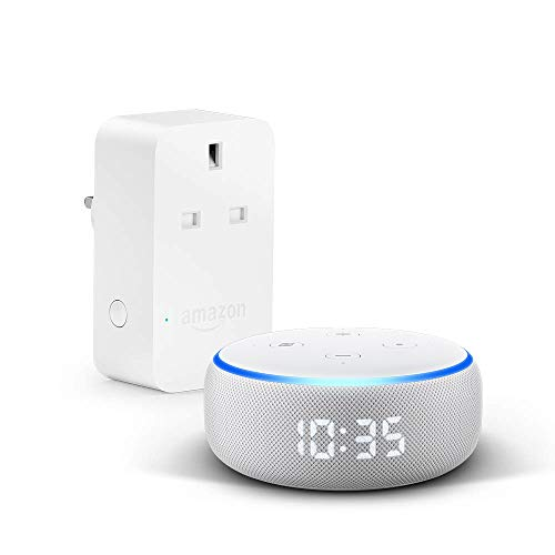 All-new Echo Dot (3rd generation) | Smart speaker with clock and Alexa + Amazon Smart Plug, Works with Alexa