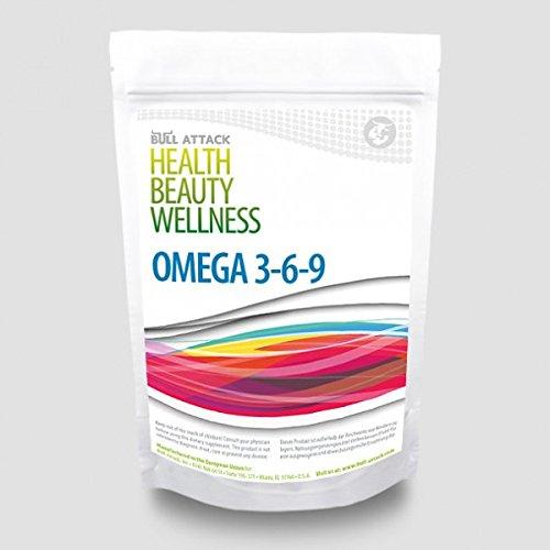 Omega 369 (1000 Softgel Kapseln á 1000mg) 3/6/9 - Fischöl / Leinöl / Sonnenblumenöl - ALA - DHA - EPA + Vitamin E - Gesunde Fettsäuren - Preishammer
