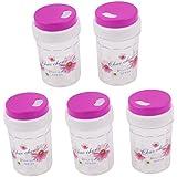 Porte cure-dents en plastique pour pot àépices Boîte 80 x 46 mm-- Fuchsia 5 pièces