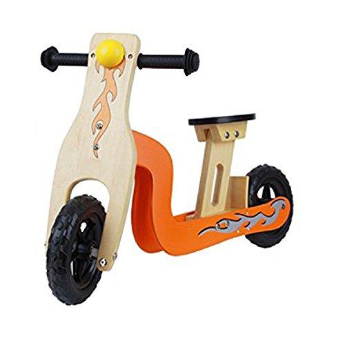 2 in 1 scooter monopattino bici bicicletta senza pedali in legno balance equilibrio