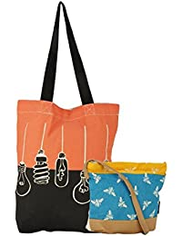 Kanvas Katha Women's Sling Bag (Multicolor) (KKCBFK008)