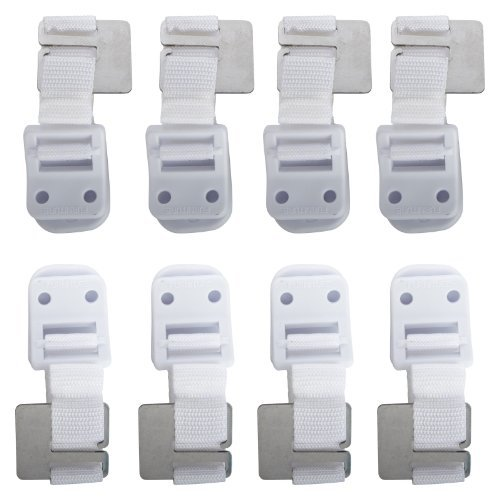 Safety 1st Furniture Wall Straps 8 Pack by Safety 1st (English Manual)