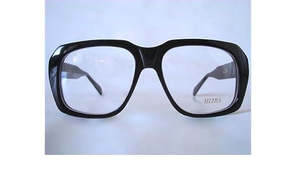 8bdc4983ff1 Ultra Goliath II Eyeglasses Vintage Ocean s 11 Eye Glasses Casino Robert De  Niro Black  Amazon.co.uk  Clothing