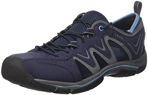 Geox u ayler e, sandali a punta chiusa uomo, blu (navy/azure), 40 eu